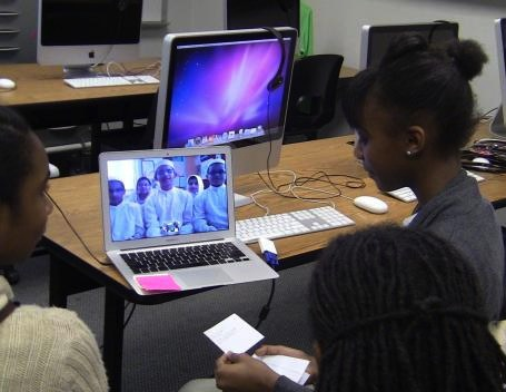 Trenton, NJ - Dubai, UAE Finding Solutions to Hunger Videoconference (view from Trenton)