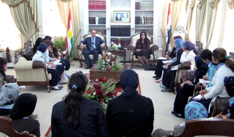 My Hero Project Participants Interview Iraqi Minister of Education, 2008.
