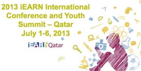 ROTA iEARN-Qatar 2013 iEARN Conference Logo