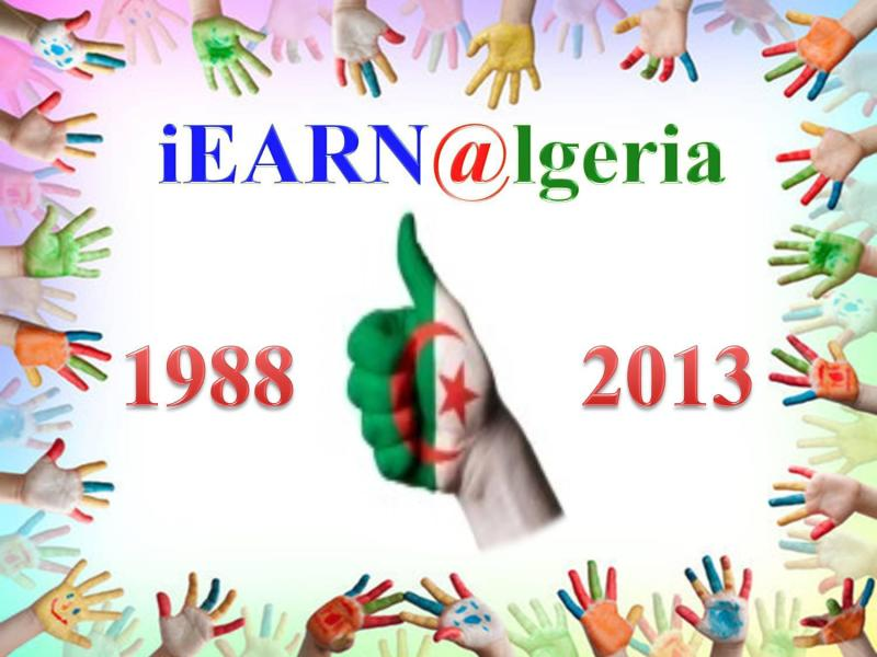iEARN @lgeria 25th Anniversary Graphic