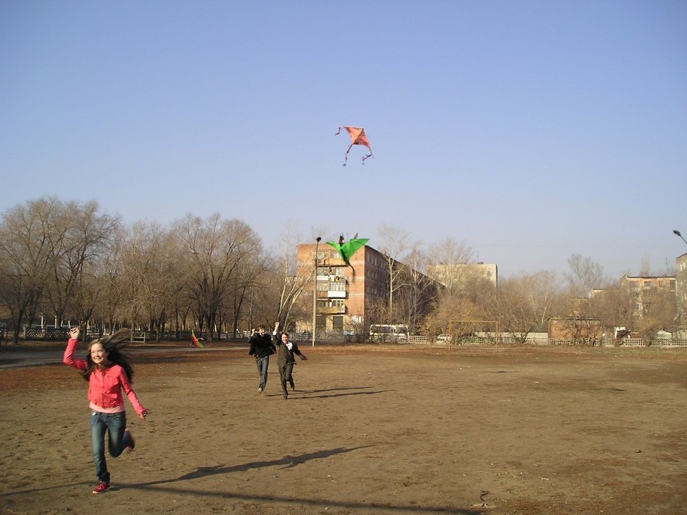 Talking Kites in Kazakhstan