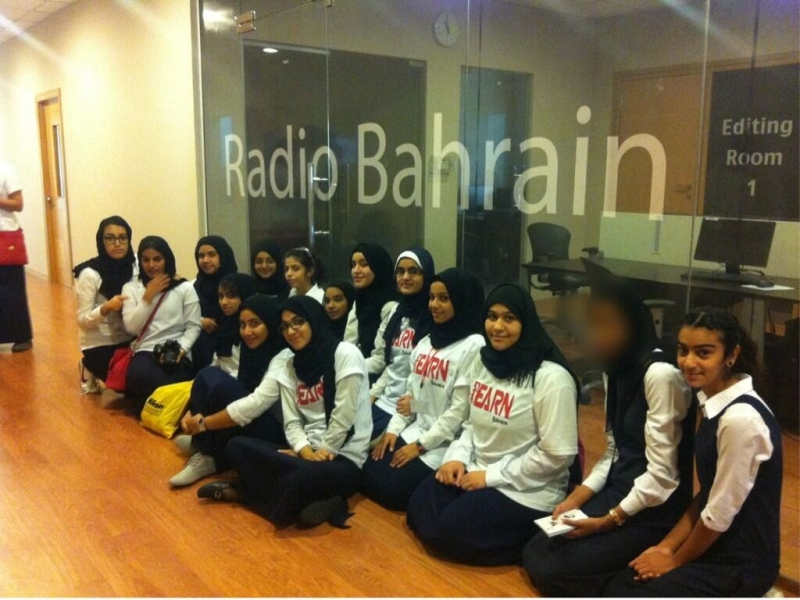 Khawla Secondary School for Girls visit a radio station